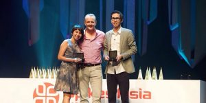 Lila Talitha and Wisnu Satya Putra winning Young Spikes Asia 2014
