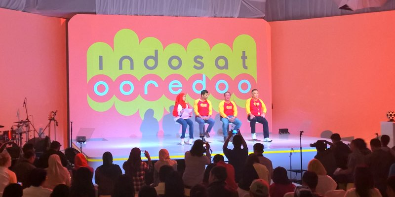 IndosatOoredoo executives at the brand relaunch | Melfin Salim/AdDiction