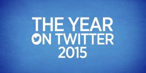 2015 year on Twitter captured from Twitter video