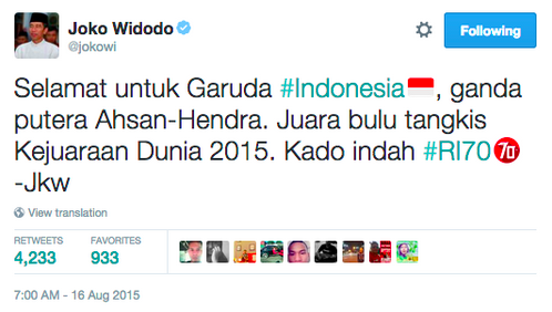[@jokowi tweet courtesy Twitter Inc.]